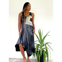 Reed Krakoff Sleeveless Colorblock Design Midi Dress Black Sz 4