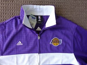 NBA Los Angeles Lakers On Court Warm Up Jacket  All Sewn Free Shipping ( M )