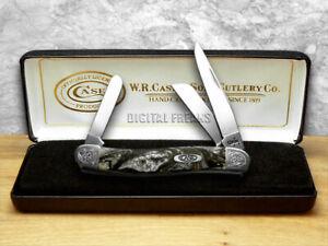 Case xx Medium Stockman Knife Engraved Bolster Gray Quartz Corelon 9318IQ/E