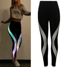 Women Rainbow Leggings Fitness Sports Gym Running Yoga Athletic Pants Trousers