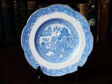 Época eduardiana Placa de patrón de sauce azul y blanca-Toscano China C 1907 +