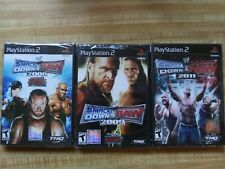PS2 Smackdown Vs Raw 2008 2009 2011 lot Video Games BRAND NEW!!
