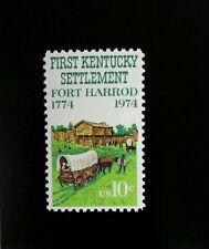 1974 10c First Kentucky Settlement, Fort Harrod, 150th Scott 1542 Mint F/VF NH