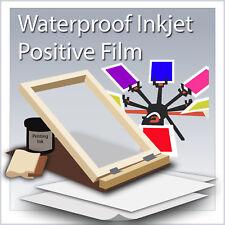 "WaterProof Inkjet Screen Printing Film 8.5"" x 14"" (100 Sheets)"