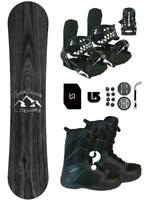 167 Symbolic Knotty POW Snowboard+Binding+Boot Package+Stomp+Lsh+Mask+burton 3d