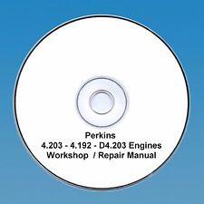 Perkins D4.203, 4.203 & 4.192 Engines Workshop Repair Manual CD PDF