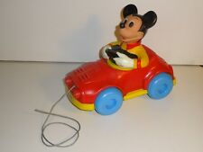 New listing Vintage 1973 Walt Disney Mickey Mouse Pull Mee Kohner Bros Action Pull Toy