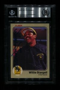 1983 FLEER WILLIE STARGELL #324 PIRATES HOF SIGNED AUTO BECKETT BAS