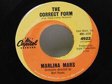 Marlina Mars 45 THE CORRECT FORM / JOHNNY`S HEART, Capital  V to Vg+