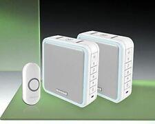 Honeywell 200m Wireless Twin Portable or Wall Mounted Doorbell Kit