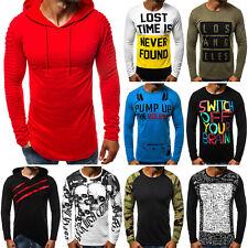 Longsleeve Klassiker Langarm Shirt Basic Sweatshirt Herren OZONEE 7736 MIX