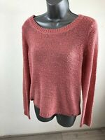 Women's ONLY Pink Knitted Jumper Sweater Size Medium
