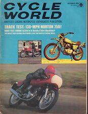 Cycle World Magazine December 1969 Norton 750 072917nonjhe