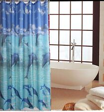 100 Polyester Washable Shower Curtain with 12 Hooks