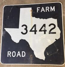 Old Authentic Retired TEXAS 3442 SIGN Highway Oil Gas (24X24) Lone Star
