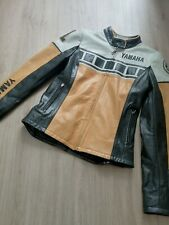 Women's Retro Yamaha Leather Jacket Size S Cafe Racer - 50th anniversary edition