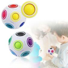 Creative Cube Puzzle Magic Rainbow and White Spherical Ball Shaped Twist Toy