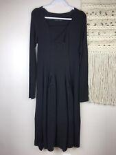 Rundholz Women's Wool Balloon long Sleeve Black Dress Size S