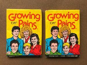 lot 2 paquets série TV Quoi de neuf docteur ? (Growing Pains) Topps 1988