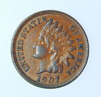 1907 INDIAN HEAD CENT NICE ORIGINAL XF+ COIN ++ FULL LIBERTY ++ FREE SHIPPING ++