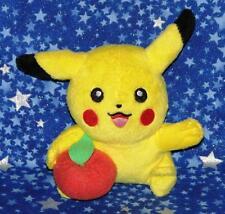 Pikachu Holding an Apple Pokemon Mini Plush Doll Toy by Jakks Pacific USA Seller