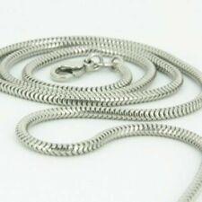Collar cadena pulsera tobillera Serpiente de fina plata de ley 925 2mm Italiano