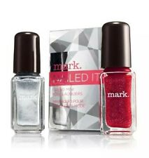 Avon mark. Nailed It Trend Mini Laquer Tinseltown (Silver) Firestarter (Red) NEW
