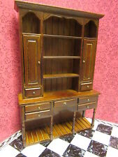 DOLLS house furniture HUTCH DRESSER WALNUT ro429