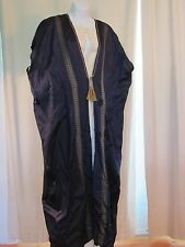 VTG middle eastern costume - silk robe and handspun linen chemise