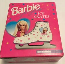 Vintage Barbie For Girls Brookfield Ice Skates White & Pink Size 1/13/32 W/Box