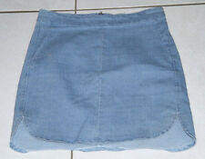 Womens size 6-8 stretch short denim skirt made by AVA