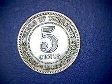 1945 Malaya 5 Cents - Unc
