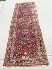 """Antique Reds Floral Hand Woven Runner Oriental Rug Carpet 31x127 """" Perfect"""