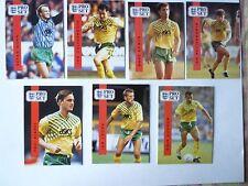 English Premier League 1990-1991 Pro Set Norwich City Team Set (lot of 13)