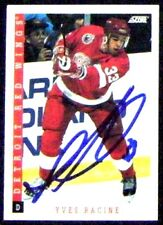 Yves Racine Detroit Red Wings 1993-94 Score Signed Card