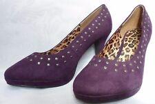 Viva La Diva Purple Studded Court Shoes Size U.K: 6 NWOB