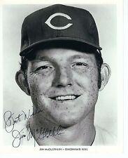 Autographed Jim McGlothlin Cincinnati Re 8x10 photo with JSA COA - Dec 1975