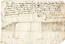 REGION AUVERGNE / DOCUMENT MANUSCRIT 1647 Latin Vieux Français