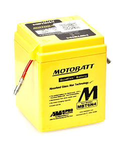 MotoBatt 6V MBT6N4 Battery Replaces 6N4-2A Range Of Batteries 6N4C1B See Listing