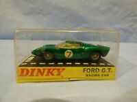 Vintage Dinky Toys no. 215 Ford G.T. Racing Car Green Sports Car Model Toy