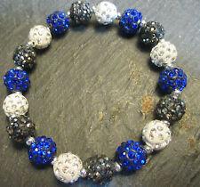 Dallas Cowboys-Detroit Lions-Bling-Crystal-Blue/White/Dark Gray-Bracelet
