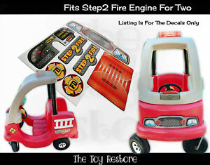 Toy Replacement Decals Stickers fits Step2 Fire Truck Engine for 2 Firetruck