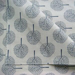 50*150cm Cotton Linen Zakka Fabric DIY Home Deco Craft Print Black Tree F113 B#