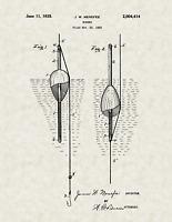 "1933 Fishing Bobber by James W Menefee Vintage U.S. Patent  8.5"" x 11"" Art Print"