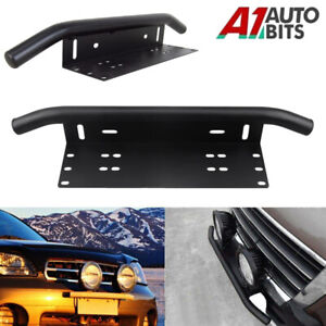 Car License Plate Frame Number Plate Bull Bar Bumper Mount Bracket LED Light