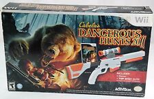 Nintendo Wii Cabela's dangerous hunts 2011 w top shot elite gun & sealed game