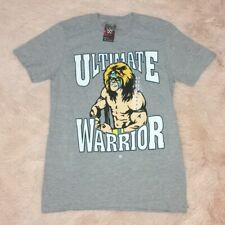New WWE 'Ultimate Warrior' Vintage Legends Small Heather Gray T-Shirt.
