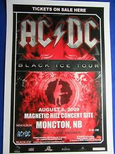 ~ Ac/Dc 2009 Black Ice Tour Poster ~ Hard To Find! ~