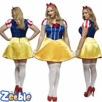 Womens Sexy Snow White Plus Size Fairytale Costume Adult Princess Fancy Dress