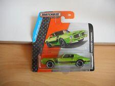 Matchbox '71 Pontiac Firebird Formula in Green on Blister